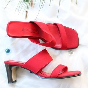 Vintage Nina | Sexy Red Square Toe Sandals Size 8
